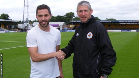 Robbie Willmott (left) and manager Jez George