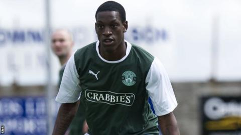 Isaiah Osbourne has been with Hibs for a year
