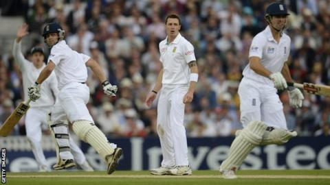Jonathan Trott, Dale Steyn and Alastair Cook