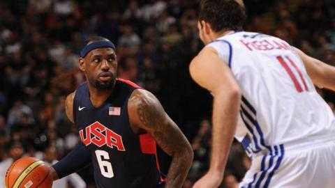 USA basketball stars beat Team GB