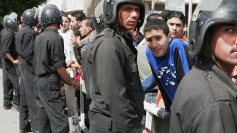Egyptian riot police