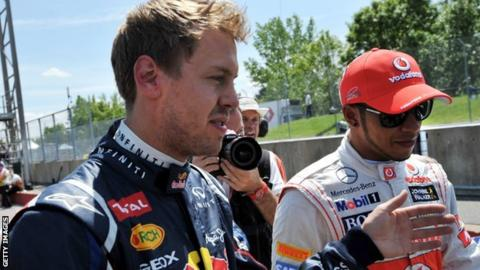 Sebastian Vettel & Lewis Hamilton