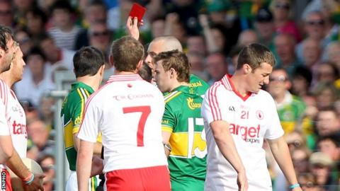 Brian McGuigan gets sent off aganist Kerry