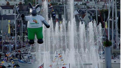 The opening ceremony of the 2003 Island Games in Guernsey