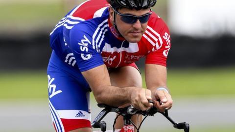 British Para-cyclist Mark Colbourne