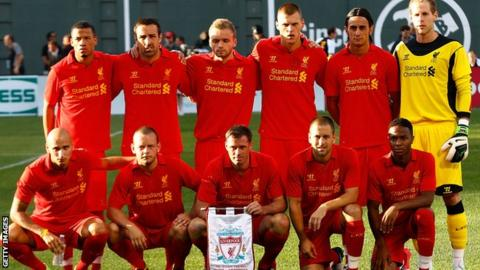 Ryan McLaughlin (third from left, back row) makes Liverpool debut