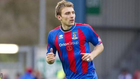 Inverness defender Chris Hogg
