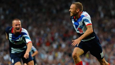 Craig Bellamy scores for Great Britain