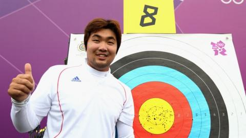 South Korea's Im Dong-hyun celebrates world record