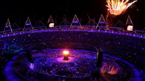 The opening ceremony at the Olympic Games