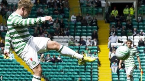 Kris Commons was on target for Celtic against Inter Milan