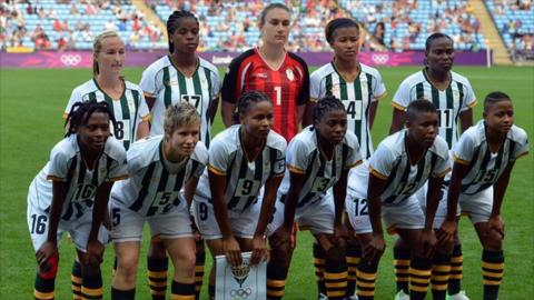 South Africa's women's football team at the 2012 London Olympics