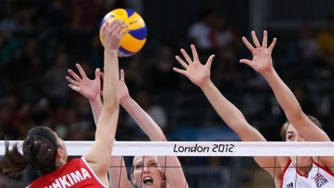 Great Britain's women win volleyball