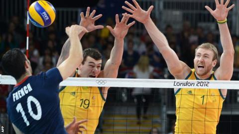GB volleyball were beaten by Australia