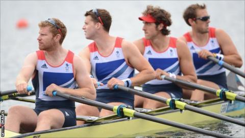 Team GB Mens quadruple scull crew