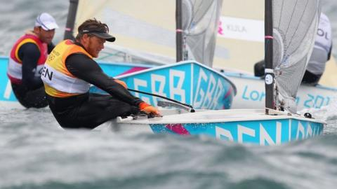 Ben Ainslie (left) has been left in the wake of Jonas Hogh-Christensen