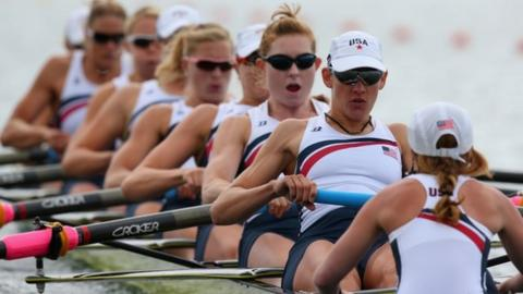 United States women's eight gold medallists