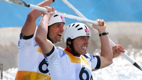 Canoe slalom pair Tim Baillie and Etienne Stott