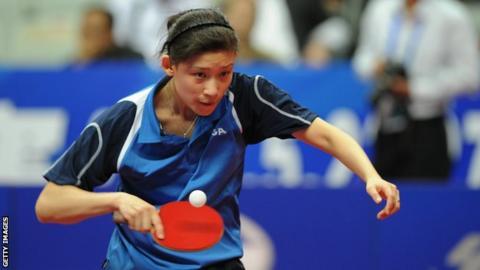 Table tennis player Na Liu
