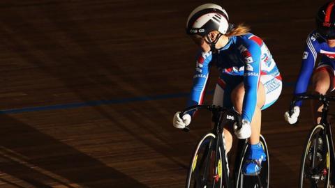 Russian cyclist Victoria Baranova
