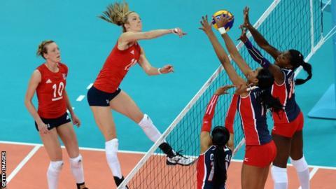 Great Britain volleyball player Ciara Michel
