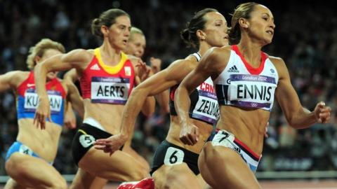 Jessica Ennis leads heptathlon after four events