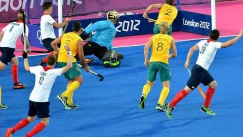 GB's James Tindall scores the equaliser