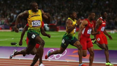 Bolt beats Blake to win 100m gold