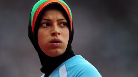 Afghan sprinter Tahmina Kohistani