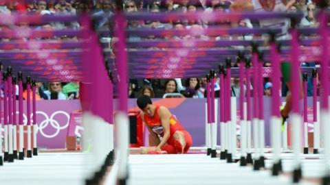 Xiang falls at the first hurdle