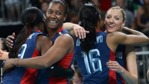 USA women's volleyball team