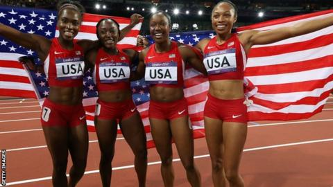 USA 4 x 100m women's relay