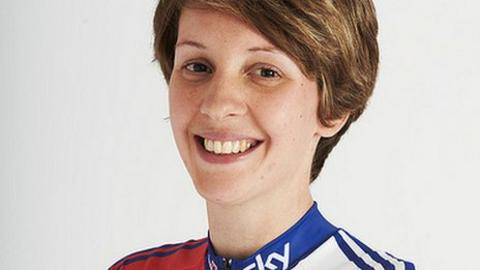 Para-cyclist Crystal Lane