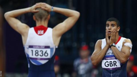 Adam Gemili (right) and Daniel Talbot