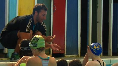 Australian swimmer Ian Thorpe