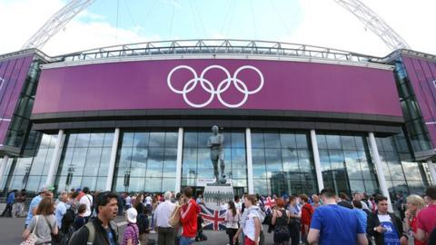 Olympic football came to Wembley