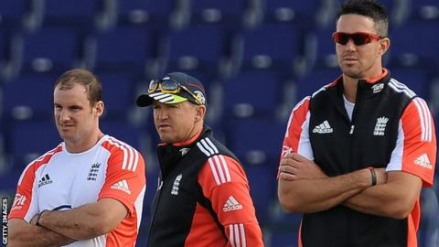 Andrew Strauss, Andy Flower and Kevin Pietersen