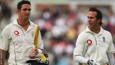 Kevin Pietersen and Michael Vaughan