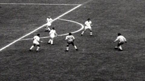 Garrincha scores against England