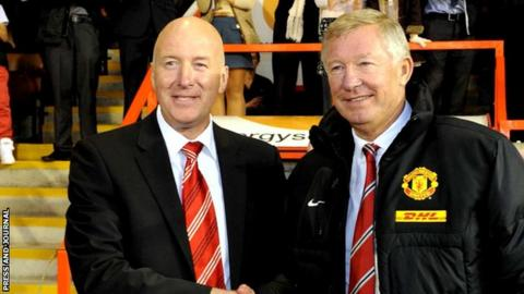 Neil Simpson and Sir Alex Ferguson