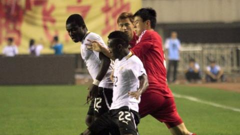China and Ghana drew 1-1 in a friendly on Wednesday 15 August, 2012