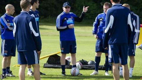 Hearts manager John McGlynn at training