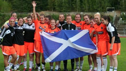 Glasgow City players celebrating