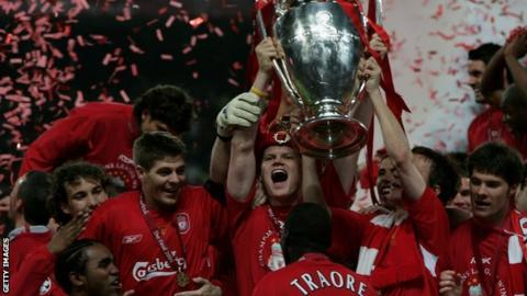 Liverpool win Champions League in 2005