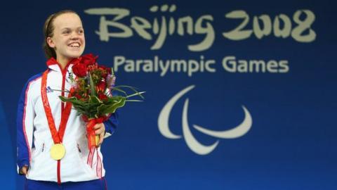 Beijing double gold medallist Ellie Simmonds