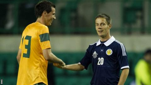 Ryan McGowan and Ian Black can see the funny side at the final whistle