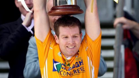 Kevin Brady captained Antrim to the 2008 Tommy Murphy Cup triumph