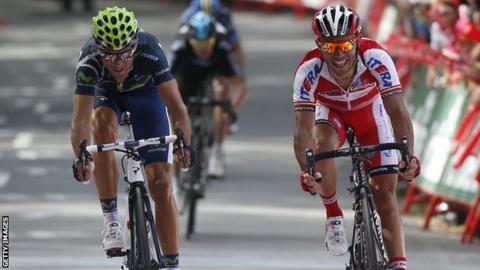 Alejandro Valverde wins the third stage of the Vuelta