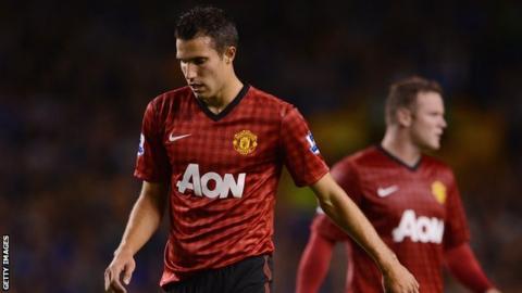 Manchester United striker Robin van Perseid