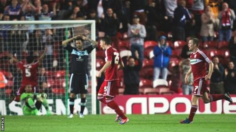 Middlesbrough celebrate their winner